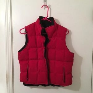 Puffer Vest from Express (size M, red)